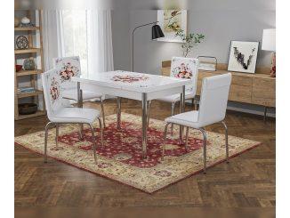 Комплект трапезна маса с 4 стола